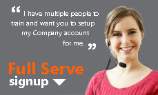 Full Service Account Setup